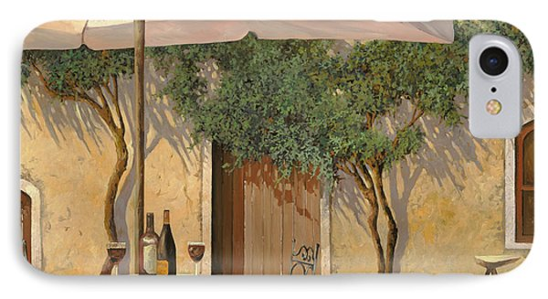Un Ombra In Cortile IPhone Case by Guido Borelli