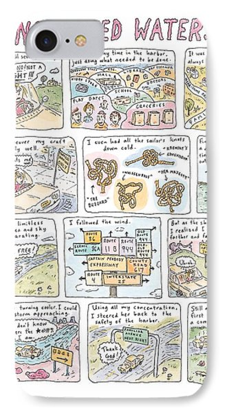 'uncharted Waters' IPhone Case by Roz Chast