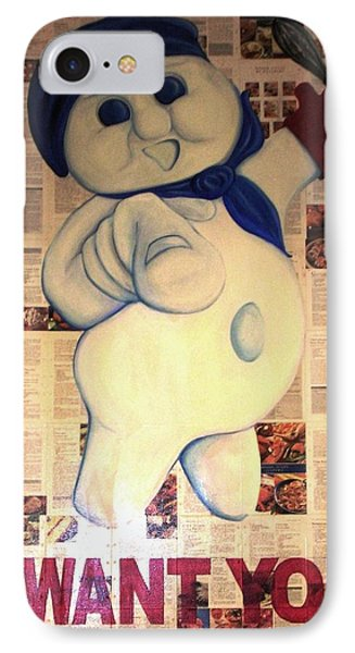 IPhone Case featuring the painting Uncle Fat Pills by Kristen R Kennedy