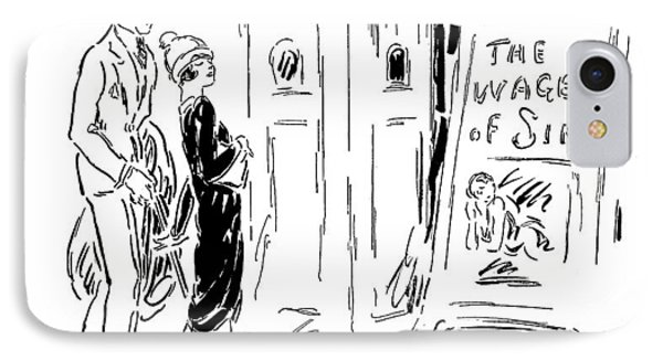 Uncle: Poor Girls IPhone Case by Ethel Plummer