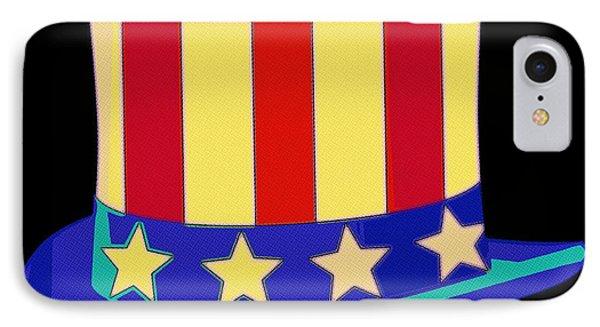 Uncle Sam Hat Pop Art IPhone Case by Florian Rodarte