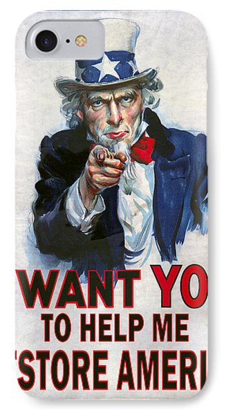 Uncle Sam Needs Help IPhone Case