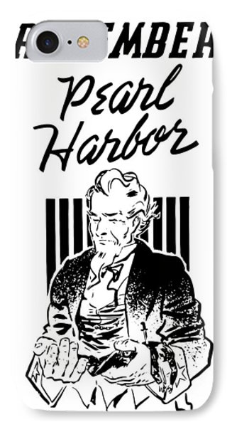 Uncle Sam - Remember Pearl Harbor  Phone Case by War Is Hell Store
