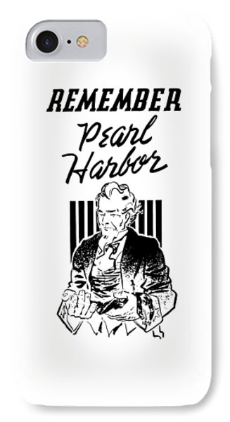Uncle Sam - Remember Pearl Harbor  IPhone Case