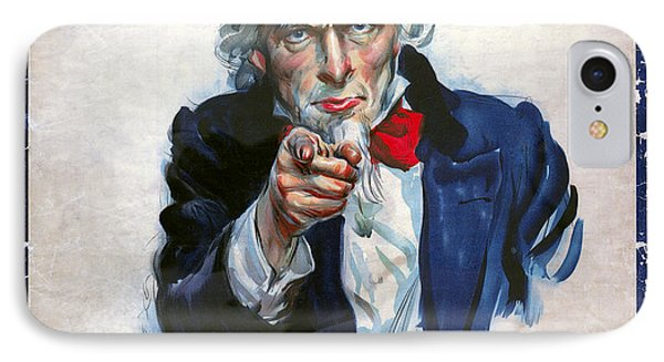 Uncle Sam Wants You IPhone Case by Daniel Hagerman