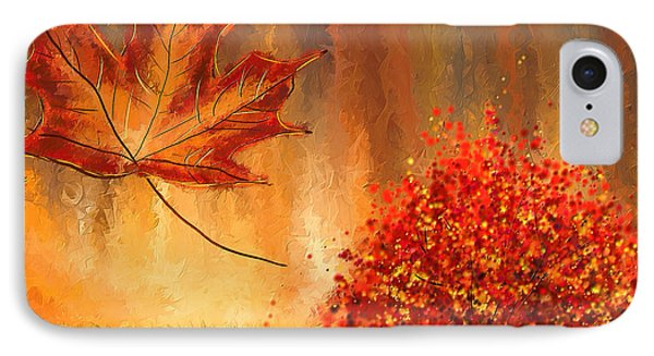 Undeniably Autumn- Autumn Impressionist Painting IPhone Case by Lourry Legarde