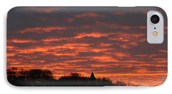Under A Blood Red Sky IPhone Case by Neal Eslinger