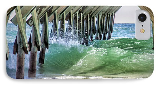 Under Crystal Pier IPhone Case by Phil Mancuso