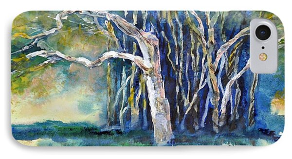 Under The Banyan Tree IPhone Case by Sally Simon