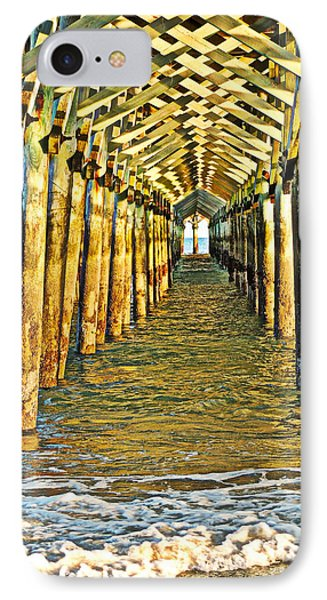 IPhone Case featuring the photograph Under The Boardwalk - Hdr by Eve Spring