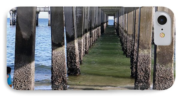 Under The Boardwalk Phone Case by Ed Weidman