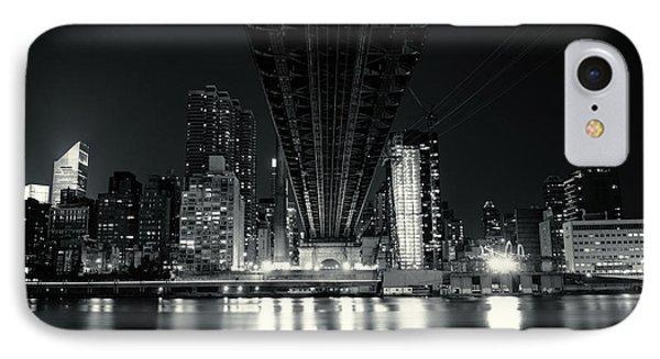 Under The Bridge - New York City Skyline And 59th Street Bridge Phone Case by Vivienne Gucwa