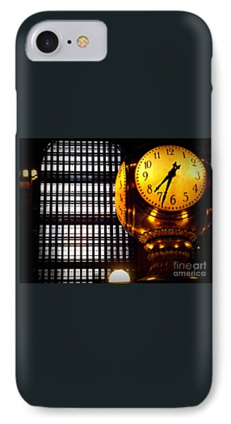 Under The Famous Clock IPhone Case by Miriam Danar