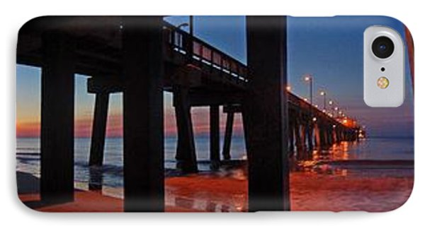IPhone Case featuring the digital art Under The Gulf State Pier  by Michael Thomas