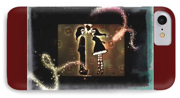 Under The Mistletoe IPhone Case by Sherry Flaker