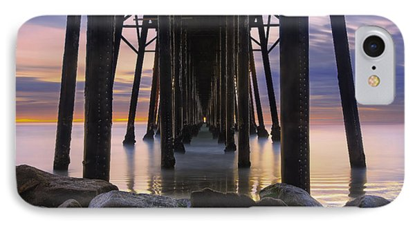 Under The Oceanside Pier Phone Case by Larry Marshall