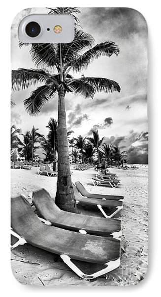 Under The Palm Tree Phone Case by John Rizzuto