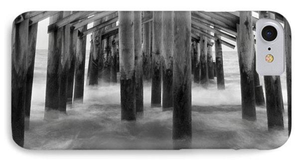 Under The Pier At Kure Beach IPhone Case by Mike McGlothlen