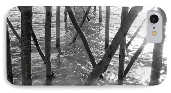 IPhone Case featuring the photograph Under The Pier by Ramona Johnston