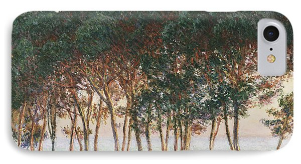 Under The Pines. Evening IPhone Case by Claude Monet
