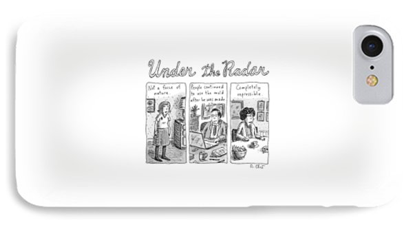 Under The Radar - A Tryptich Of Unexceptional IPhone Case
