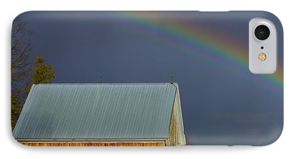 IPhone Case featuring the photograph Under The Rainbow by Alice Mainville
