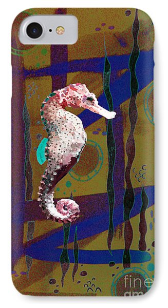 IPhone Case featuring the mixed media Under The Sea2 by Megan Dirsa-DuBois