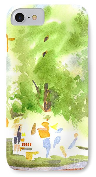 Under The Shade Trees Farmers Market Iv Phone Case by Kip DeVore