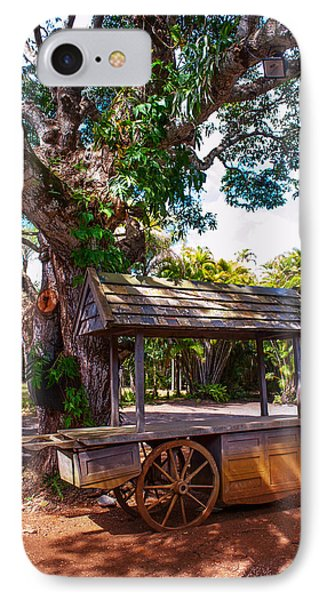 Under The Shadow Of The Tree. Eureka. Mauritius Phone Case by Jenny Rainbow