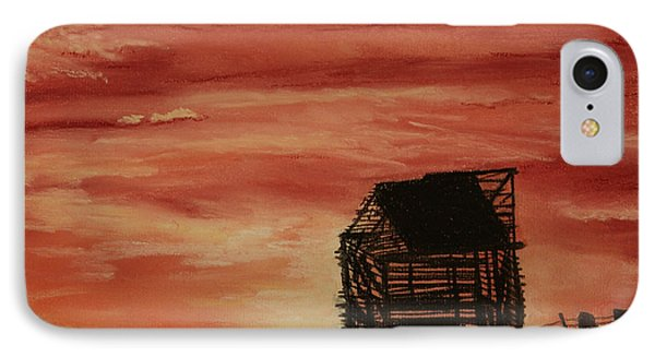 IPhone Case featuring the painting Under The Sunset by Stanza Widen