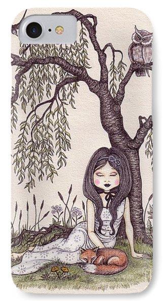 Under The Willow Tree Phone Case by Snezana Kragulj