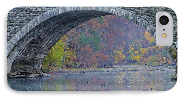Under Valley Green Bridge In Autumn IPhone Case by Bill Cannon