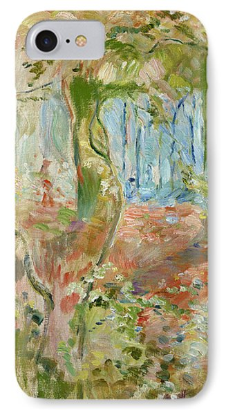 Undergrowth In Autumn Phone Case by Berthe Morisot