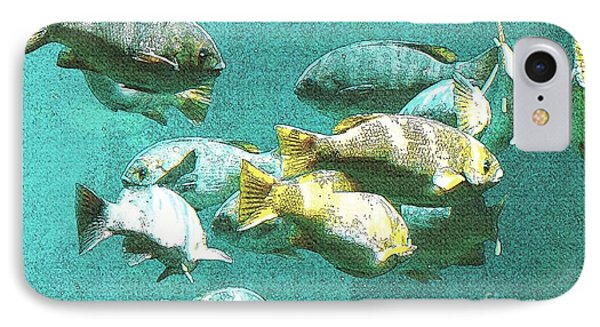 Underwater Fish Swimming By IPhone Case by Artist and Photographer Laura Wrede