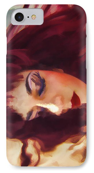 Underwater Geisha Abstract 3 Phone Case by Scott Campbell