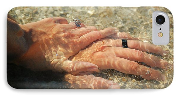 IPhone Case featuring the photograph Underwater Hands by Leticia Latocki