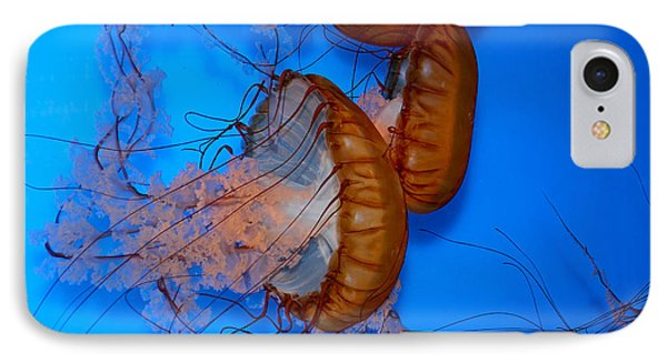 IPhone Case featuring the photograph Underwater Jellyfish by Peggy Collins