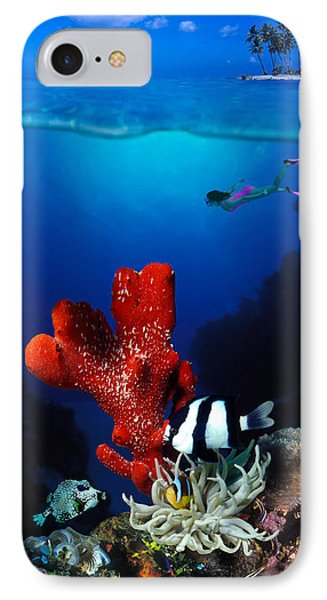 Underwater View Of Sea Anemone IPhone Case