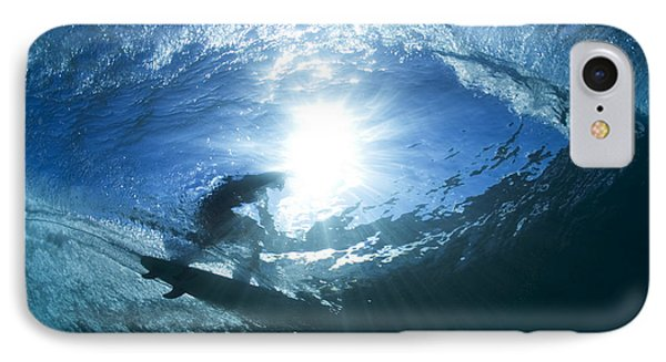 Surfing Into The Eye IPhone Case by Sean Davey