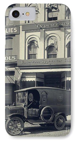 Underwood Typewriter Factory IPhone Case by Edward Fielding