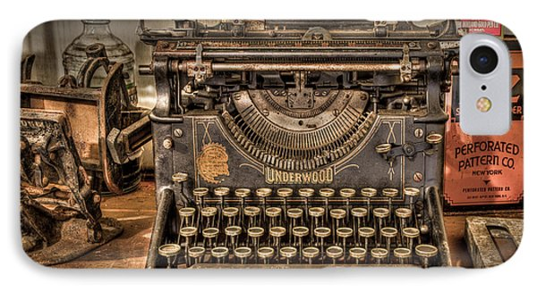 Underwood Typewriter Number 5 Phone Case by Debra and Dave Vanderlaan