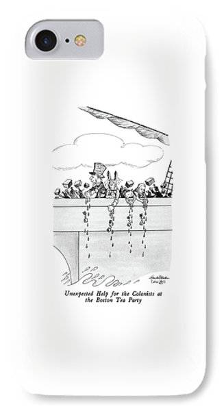 Unexpected Help For The Colonists At The Boston IPhone Case by J.B. Handelsman