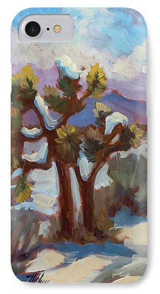 Unexpected Snowfall At Joshua Tree IPhone Case