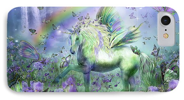 Unicorn Of The Butterflies IPhone 7 Case by Carol Cavalaris