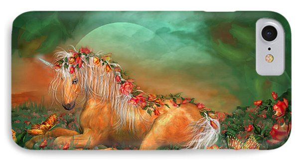 Unicorn Of The Roses IPhone Case by Carol Cavalaris