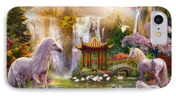 Unicorn Valley Of The Waterfalls IPhone Case