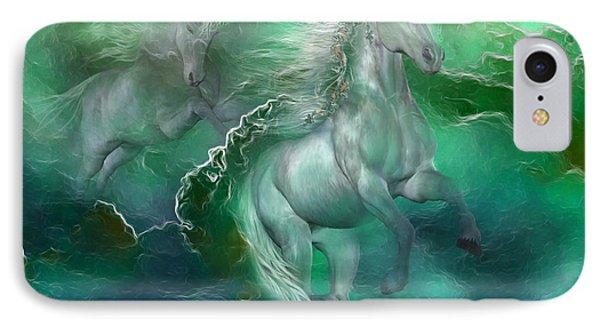 Unicorns Of The Sea Phone Case by Carol Cavalaris