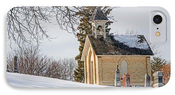 Union Cemetery Chapel IPhone Case by Susan  McMenamin