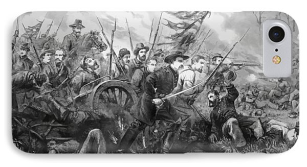 Union Charge At The Battle Of Gettysburg Phone Case by War Is Hell Store
