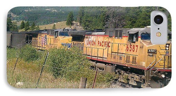 IPhone Case featuring the photograph Union Pacific 6587 by Fortunate Findings Shirley Dickerson